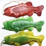 Pack of 3 Bass Fish Soap on a Rope, Fishing Gifts, Easter Basket Stuffers, Funny Gifts for Men, Funny Gifts for Dad, Fishing Gear, Unique Gifts for Men, Novelty Soap, Handmade Soap