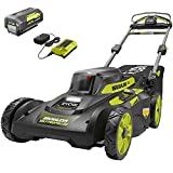 RYOBI 20 in. 40-Volt 6.0 Ah Lithium-Ion Battery Brushless Cordless Walk Behind Self-Propelled Lawn Mower with Charger Included