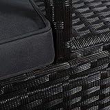 artlife polyrattan gartenbank mit glasabstellflaeche polyrattanstruktur