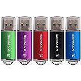 Clé USB 32 Go Lot de 5 Mémoire Stick USB 2.0 Flash Drive Pivotant Stockage...