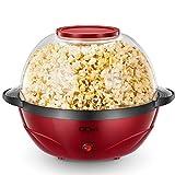 QCen Machine à Popcorn, 2 en 1 Électrique Machine à Pop Corn avec Plateau de Cuisson Détachable,...