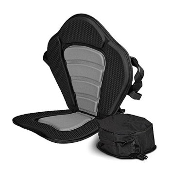 Vibe Kayaks Deluxe Padded Kayak Seat Deluxe Sit-On-Top Cushioned Back Support Kayak and Canoe Seat