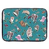 Funda de maletín de Negocios Cute Animals Fox Monkey Funda Protectora portátil para portátil