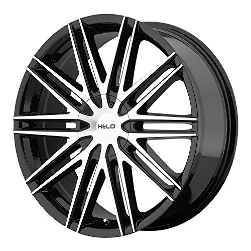 HELO HE880 Gloss Black Machined Face Wheel Chromium (hexavalent compounds) (20 x 8.5 inches /5 x 72 mm, 42 mm Offset)