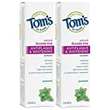 Tom's of Maine Fluoride-Free Antiplaque & Whitening Toothpaste, Natural Toothpaste, Fluoride Free Toothpaste, Spearmint, 5.5 Ounce, 2-Pack