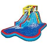 BANZAI Slide N Soak Splash Park Inflatable Outdoor Kids Water Park...