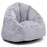Delta Children Delta Home Adult Lounge Fluffy Foam Filled Living Rooms & Dorms-Better Than A Bean Bag Chair, Grey