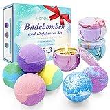 Bombe de Bain Coffret Cadeau, 6 Pcs Boule de Bain aux Huiles Essentielles Naturelles...