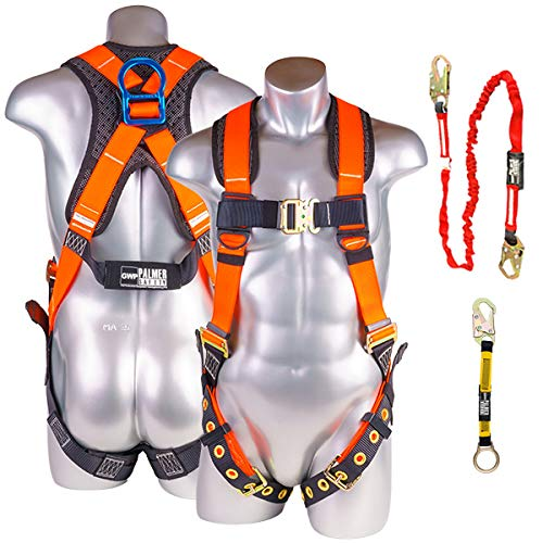 Palmer Safety 5pt Harness w/Detachable Single Leg...