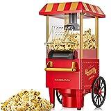 Cozeemax Machine à pop-corn rétro 1200 W pour la maison Machine à...