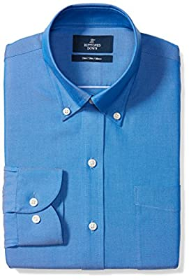 Made in Indonesia Long-sleeve pinpoint oxford non-iron dress shirt featuring button-down collar, offered with or without pocket at chest Luxury Supima cotton with a lightweight finish; straight back yoke with center box pleat Slim Fit: close Fit to t...