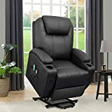 Flamaker Power Lift Recliner Chair PU Leather for Elderly with Massage and Heating Ergonomic Lounge...