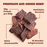 Gym Jerky Beef Barbecue 1kg – 25x40g High Protein – Low Fat & Low Carb – Deutsches Premium-Rindfleisch Made in Germany - 4
