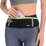 USHAKE Slim Running Belt, Bounce Free Pouch Bag, Fanny Pack Workout Belt Sports Waist Pack Belt Pouch for Apple iPhone XR XS 8 X 7+ Samsung Note Galaxy in Running Walking Cycling Gym-03
