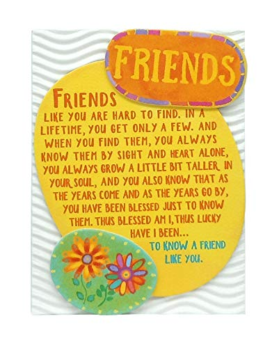 Blue Mountain Arts Miniature Easel Print with Magnet 'Friends' 4.9 x 3.6 in., Sentimental Friendship Gift Perfect for Birthday, Christmas, 'Thinking of You,' 'Missing You,' or 'Just Because'