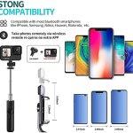 Mini Selfie Stick Tripod, Phone Tripod with...