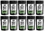 Craftsman Beef Jerky Pepper 500 g | Aus Deutschland - Bayern | Jerky Beef Set 10 x 50g | 100% Rindfleisch | High Protein 68% | Biltong Trockenfleisch Pfeffer | 100% Natürlich | Ohne Zucker