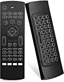 Air Mouse Yalanle MX3 Mini Wireless Keyboard, 2.4G Backlit Fly Air Mouse Remote Control, Infrared Remote Control Learning Fit Android Smart TV Box,Xbox 360,PC, PS3,Projector,HTPC,Pad,Notebook etc…