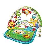 Fisher-Price Amis de la Jungle 3-en-1 tapis d'éveil musical pour bébé, transportable, arches de jeu et jouets, emballage fermé, dès la naissance, GXC36