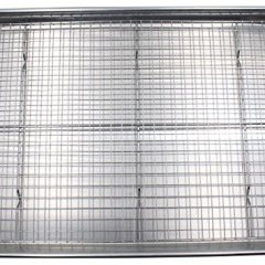 Checkered Chef Baking Sheet and Rack Set - Aluminum Cookie Sheet Tray/Half Sheet Pan for Baking with Stainless Steel Oven Safe Cooling Rack