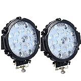 Voltage Automotive LED Work Light 6 Inch 51W Round LED Spot Light Slim Fit for Off-Road Driving Light Fog Light 6000K