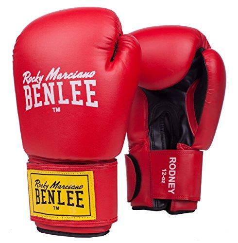 Benlee Rocky Marciano Rodney - Guante de boxeo (PVC), color rojo/negro, talla 14