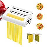 ANTREE 3 in 1 Pasta Roller And Pasta Cutter Attachment For KitchenAid Stand Mixers Included Cleaning...