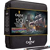 Castle Art Supplies Lot de 120 crayons de couleur à fermeture éclair...