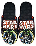 Star Wars Comic Poster and Logo Men's Slippers Black