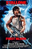 Rambo (First Blood) 11' X 17' Movie Poster - This is a Certified Poster Office Print with Holographic Sequential Numbering for Authenticity.