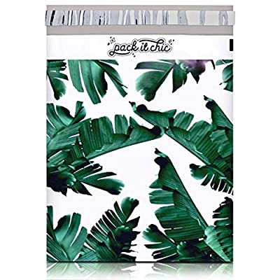 """Design: Tropical Leaves - 10"""" X 13"""" Poly Mailer Envelopes - Unpadded (100 Pack). The Pack It Chic Standard: Crafted with only the highest quality materials, our shipping envelopes are made to be incredibly durable to resist punctures, tears, and mois..."""