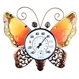 MUMTOP Thermometer Indoor Outdoor Patio Butterfly Waterproof Wall-Mounted Thermometer Does not Require Any Battery