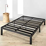Mellow Rocky Base E 14' Platform Bed Heavy Duty Steel Black, w/ Patented Wide Steel Slats (No Box Spring Needed) - California King
