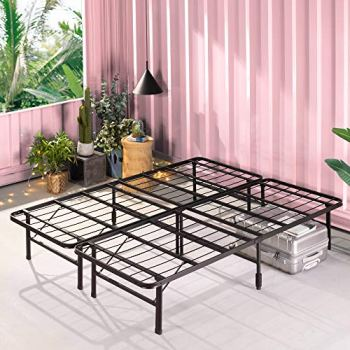 ZINUS SmartBase Zero Assembly Mattress Foundation / 14 Inch Metal Platform Bed Frame / No Box Spring Needed / Sturdy Steel Frame / Underbed Storage, Queen