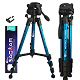 Eloies® Travel Series TL-59 Aluminum Tripod Stand for Mobile Phone and DSLR Digital Camera 57'/4.7Feet   Lightweight Compact Size Travel Tripod Max Height with Mobile Holder (Blue)