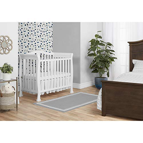 Product Image 3: Dream On Me Addison 4-in-1 Convertible Mini Crib in White, Greenguard Gold Certified