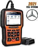 FOXWELL NT510 Elite Scanner for Mercedes Benz/Sprinter/Smart Full System Bi-Directional OBD2 Code Reader Professional Automotive Diagnostic Scan Tool w/ HVAC ABS Bleed SRS TPMS Transmission Oil Reset