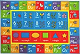 Kev & Cooper Playtime Collection ABC, Numbers and Shapes Educational Area Rug - 3'3' x 4'7'