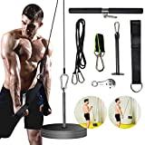 PELLOR Pulley Cable System, Fitness LAT & Lift Pulley Machine, Forearm Wrist Strength Trainer Heavy Duty Pulley System, Training Exerciser for Triceps Biceps, Back, Forearm Home Fitness Equipment
