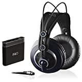 AKG K 240 MK II Professional Semi-Open Stereo Headphones with FiiO A1 Portable Headphone Amp Bundle