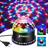 Boule Disco, Boule a Facette 12W 51 LEDs 12.5x12.5x13CM Lampe de Scène Lumière Soirée Lumière Fête Ampoules Jeux de Lumière Projecteur Rond en Cristal...