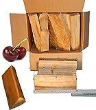 KIRSCHE Smoker-Holz, 4 Kg, aromatisches 100% natürliches Räucherholz für Smoker und große Kugelgrills, sauber und trocken