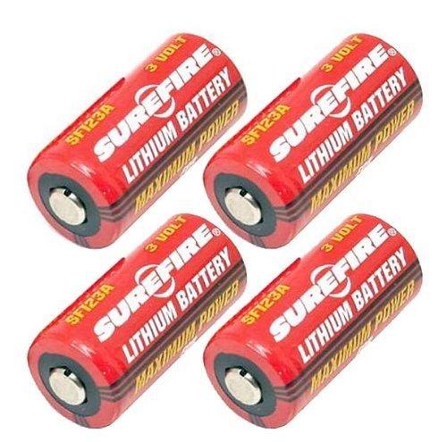 SureFire SF123A 3-Volt Lithium Battery-4-pack by SureFire