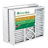 FilterBuy 24x25x5 Carrier Replacement AC Furnace Air Filters - AFB Gold MERV 11 - Pack of 2 Filters. Designed to fit FILXXCAR0024, FILCCCAR0024, FILBBCAR0024.