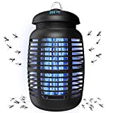 TBI Pro Bug Zapper for Outdoor & Attractant - Effective 4200V Electric Mosquito Zappers Killer - Insect Fly Trap, Waterproof Indoor - Electronic Light Bulb Lamp for Backyard, Patio - 1 Acre, Large