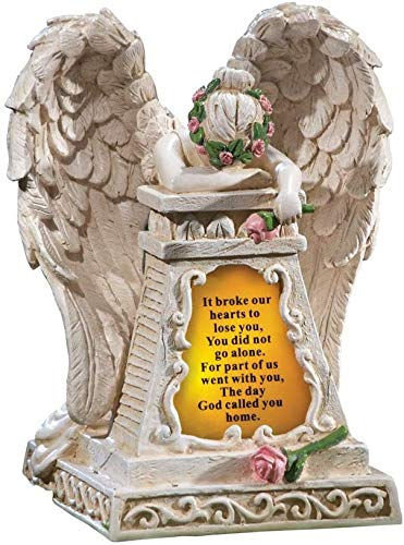 Angel Garden Statues Sympathy Gift -Cementary Decoration, Memorial...