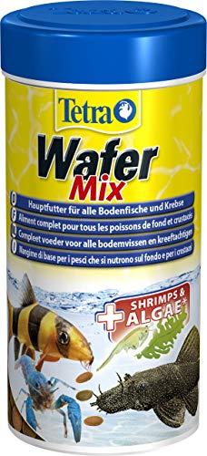 Tetra Wafer Mix - Fischfutter für alle Bodenfische (z.B. Welse) und Krebse, für gesundes Wachstum und eine bessere Widerstandskraft, 250 ml