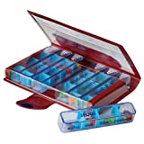 MAGNIEN Medidose Classic Weekly Pills - Assortiment de couleur (Rouge /...