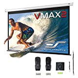 Elite Screens VMAX2, 135-inch 16:9, Wall Ceiling Electric Motorized Drop Down HD Projection Projector Screen, VMAX135XWH2