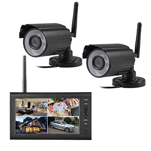 SIPOG 7 Pollici Colore Video Sorveglianza Kit di videosorveglianza LCD Telecamera Senza Fili Sicurezza Inteligente Kit di monitoraggio